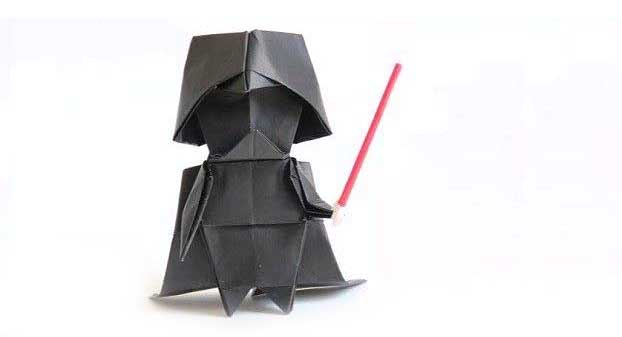 How to Make an Easy Origami Star Wars TIE Fighter - YouTube | 337x622